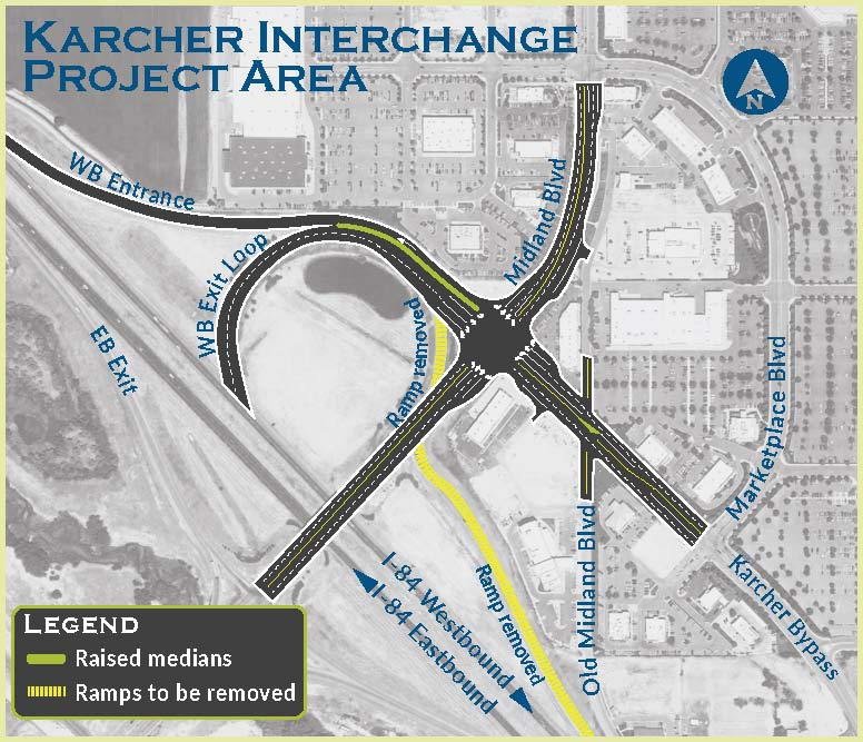 Operational Improvements At I 84 Karcher Interchange In Nampa To