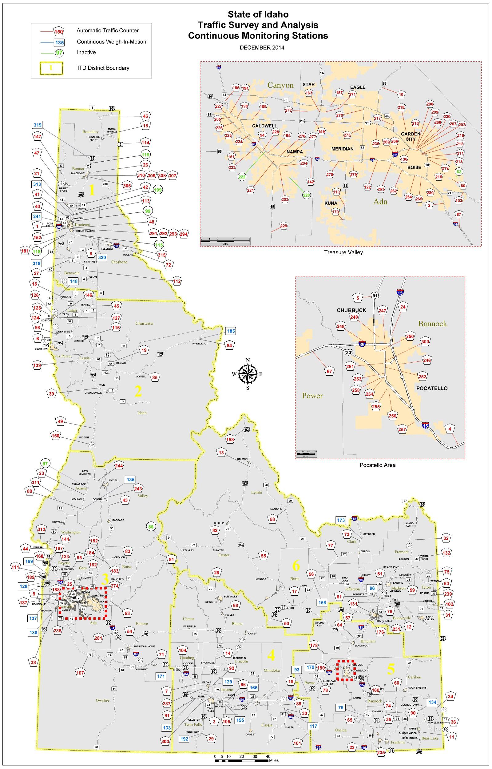 Hwy 95 Idaho Map.Image Map